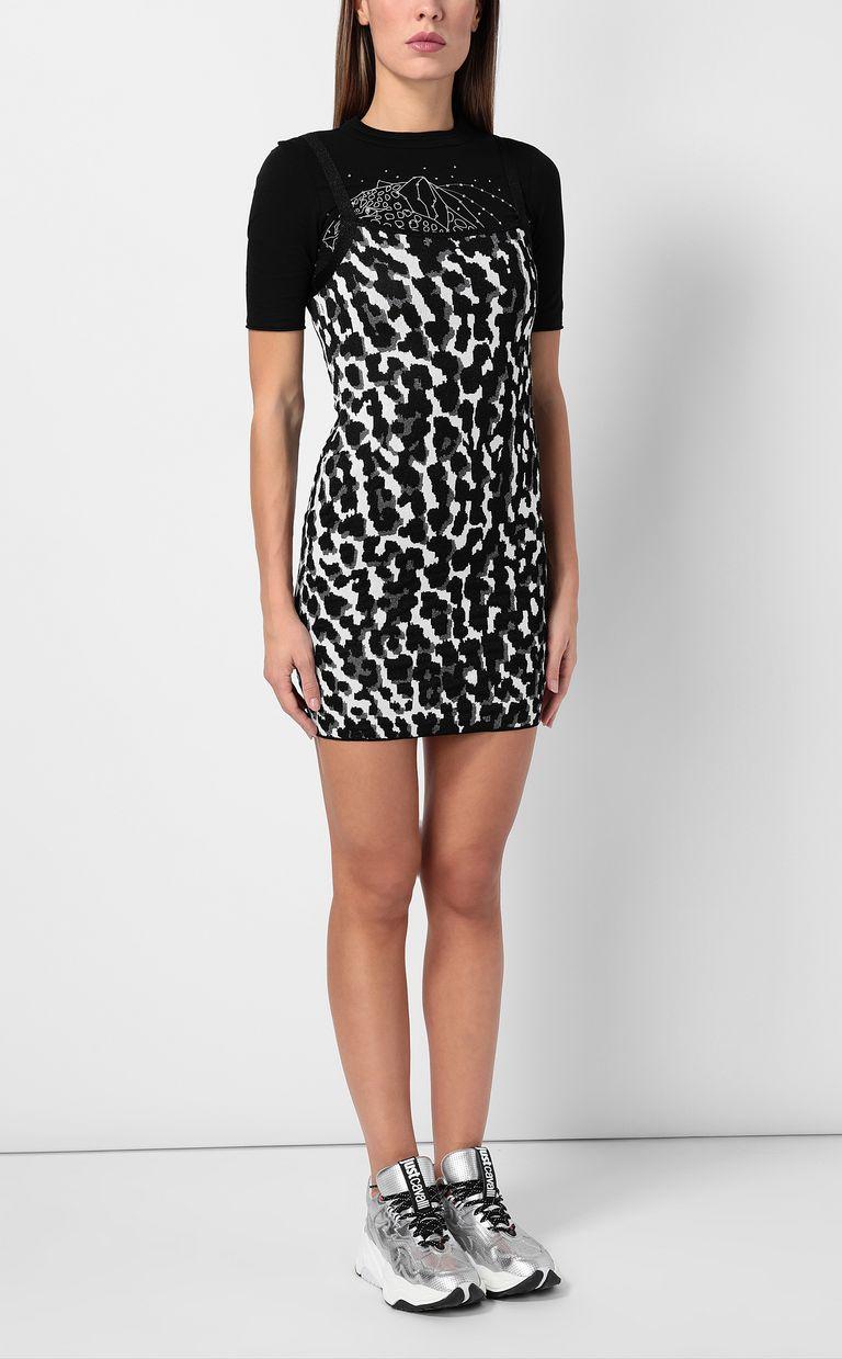 JUST CAVALLI Short leopard-spot-print dress Dress Woman d