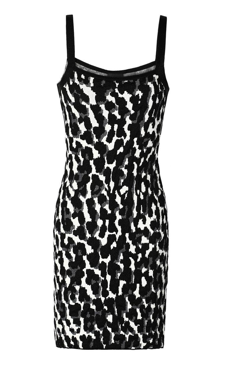JUST CAVALLI Short leopard-spot-print dress Dress Woman f