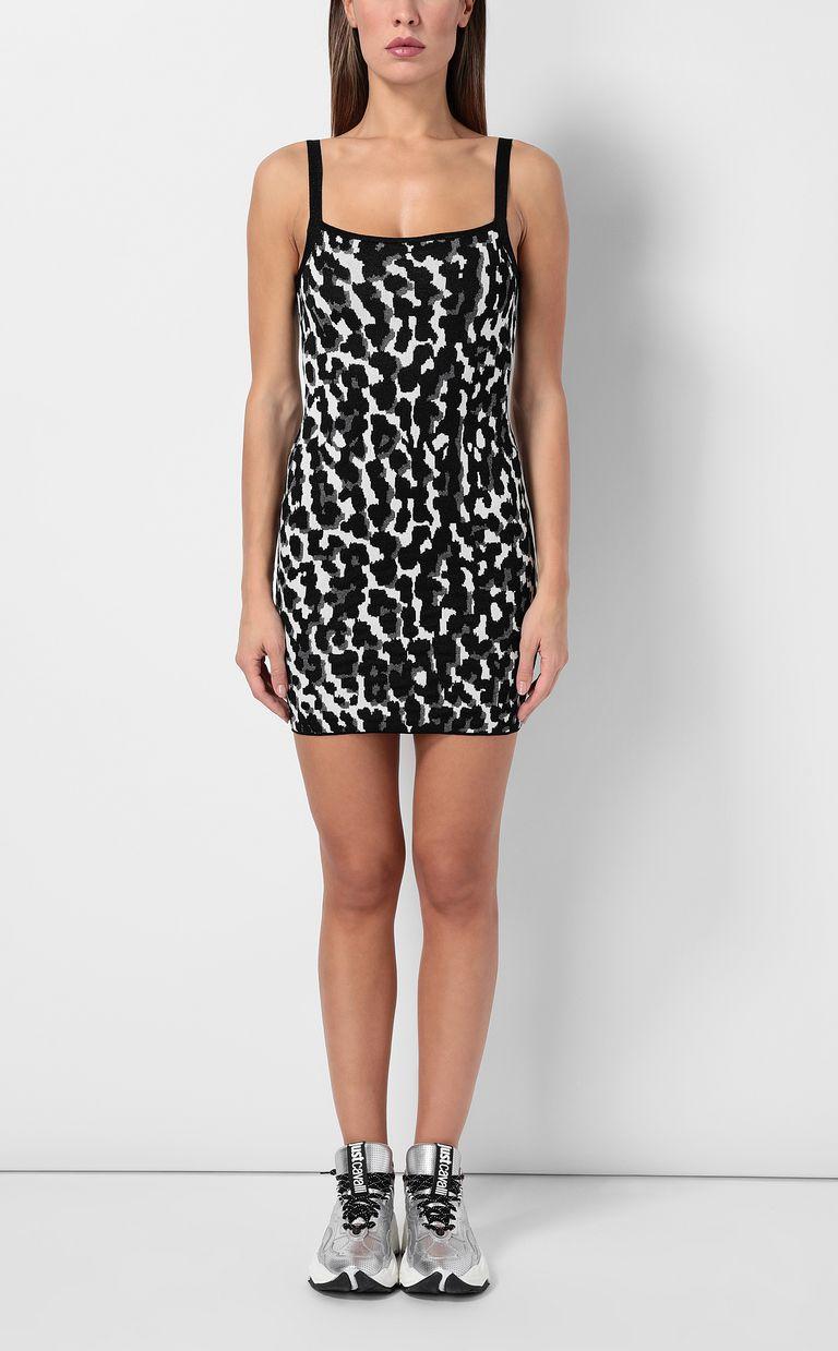 JUST CAVALLI Short leopard-spot-print dress Dress Woman r