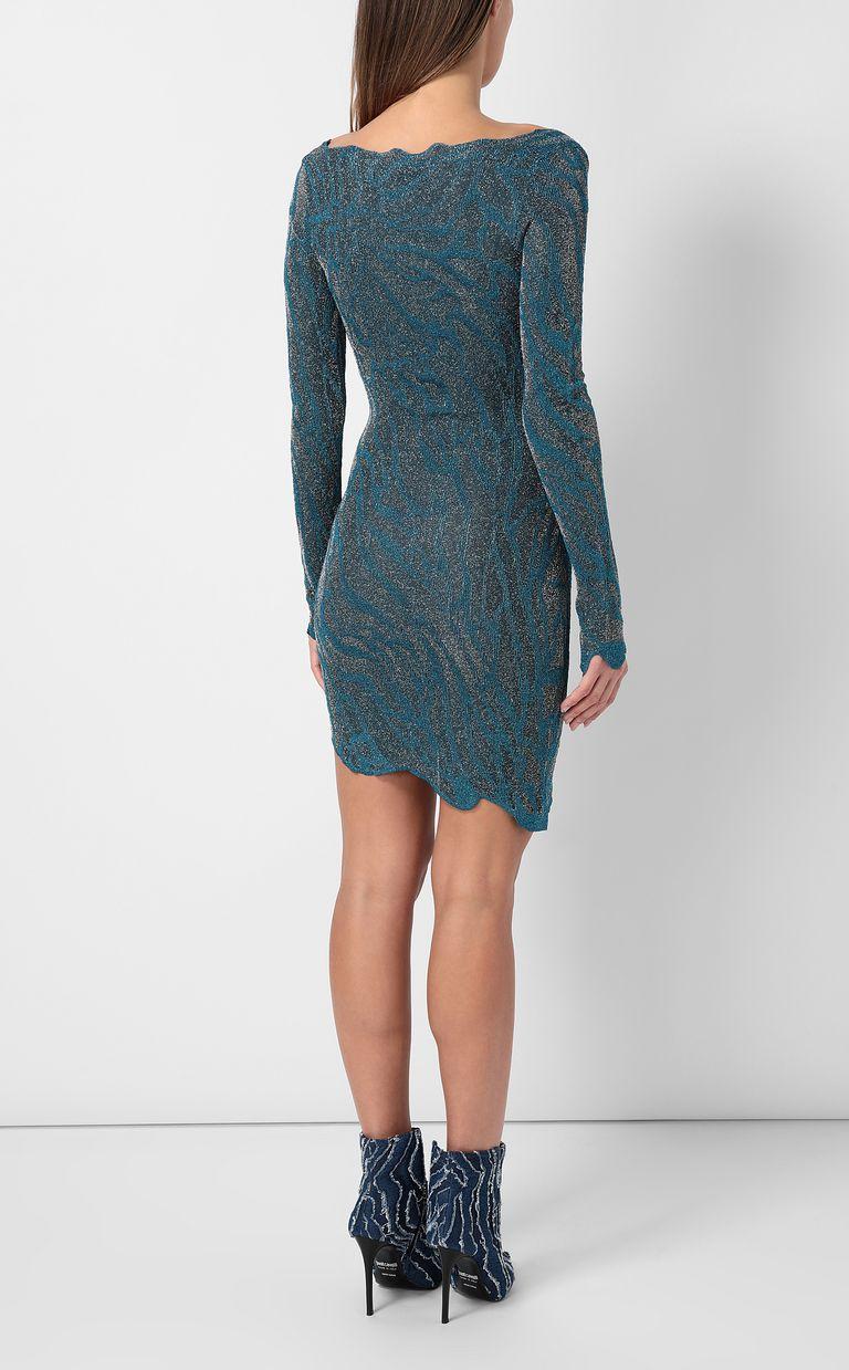 JUST CAVALLI Asymmetrical dress in lurex Dress Woman a
