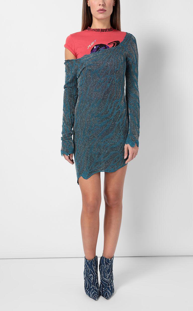 JUST CAVALLI Asymmetrical dress in lurex Dress Woman d