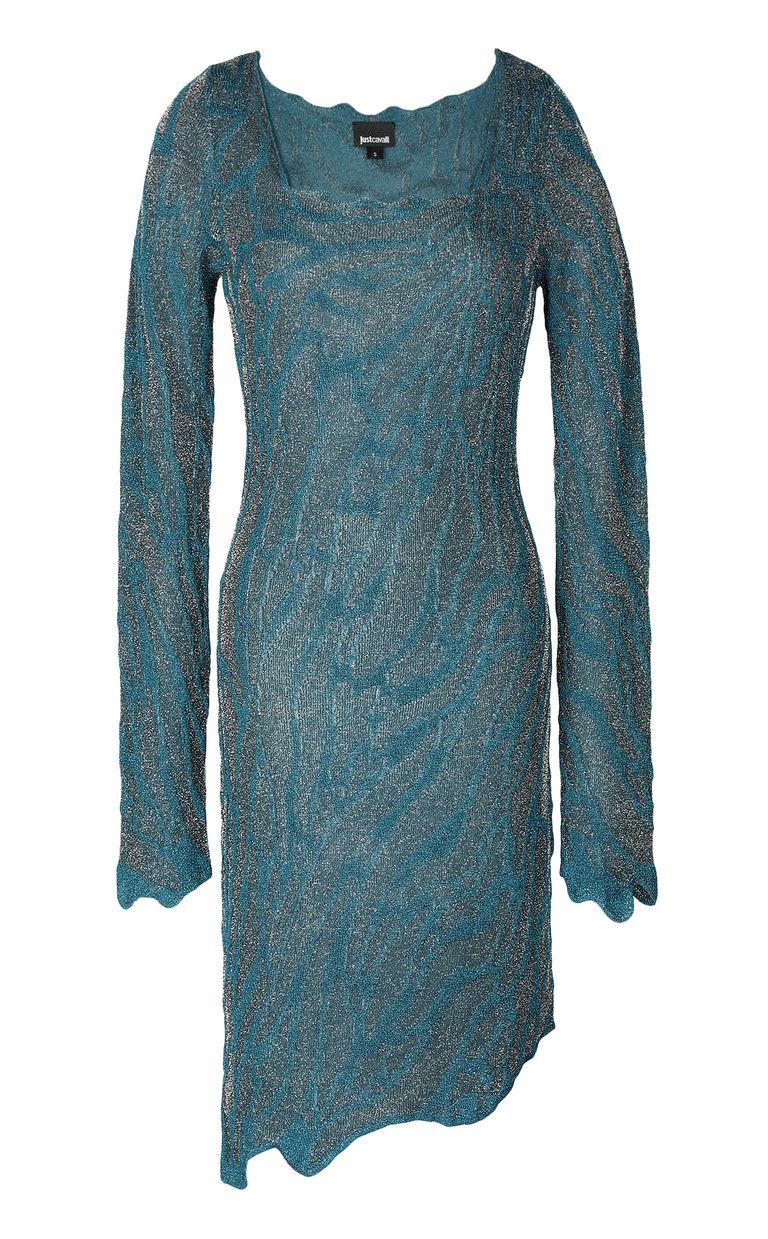 JUST CAVALLI Asymmetrical dress in lurex Dress Woman f