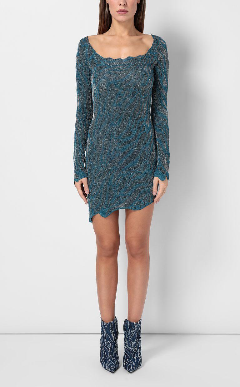 JUST CAVALLI Asymmetrical dress in lurex Dress Woman r