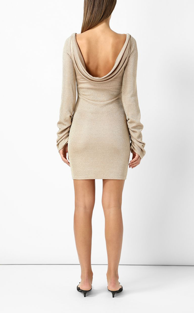 JUST CAVALLI Short dress in metallic gold Dress Woman a