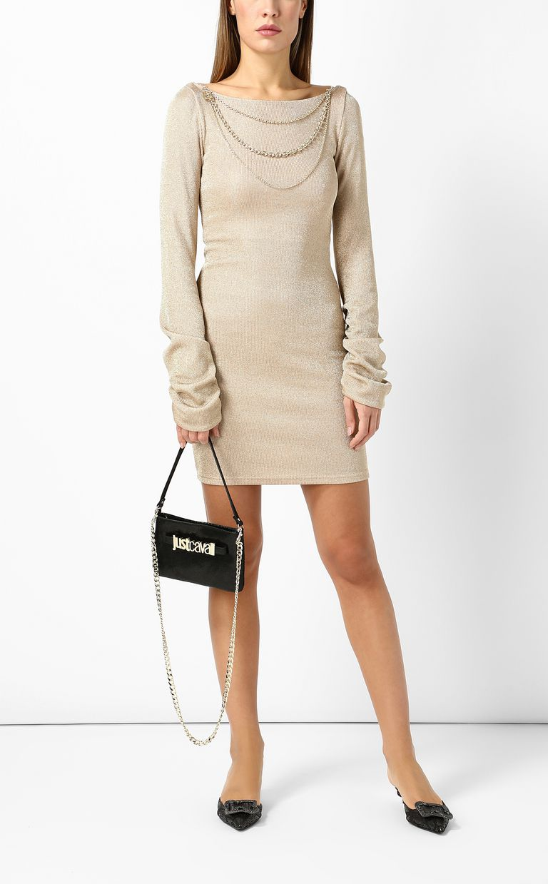 JUST CAVALLI Short dress in metallic gold Dress Woman d