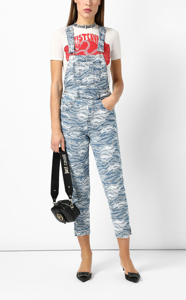 JUST CAVALLI Denim dungarees Jumpsuit Woman d