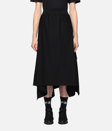 Y-3 Skirt Woman Y-3 Craft 3-Stripes Skirt r