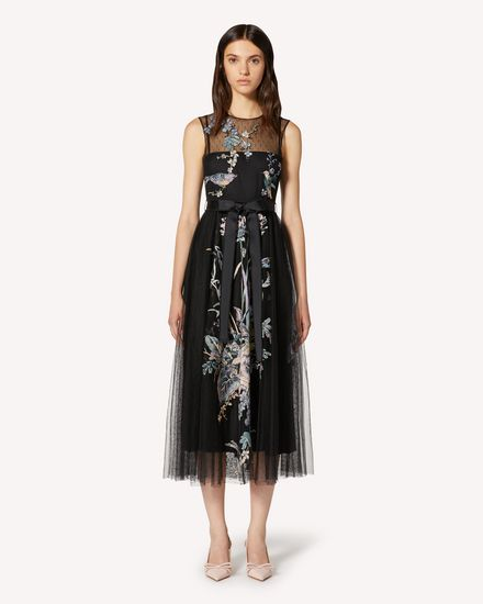 REDValentino Long and midi dresses Woman TR3VA12G4T4 0NO f