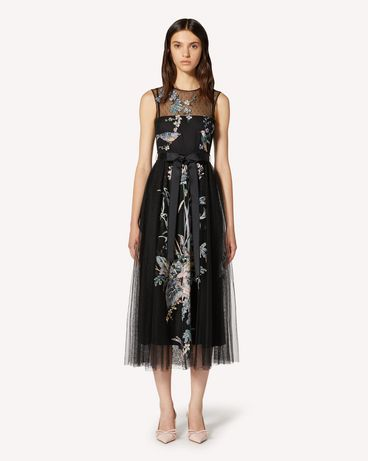 REDValentino TR3VA12G4T4 0NO Long and midi dresses Woman f