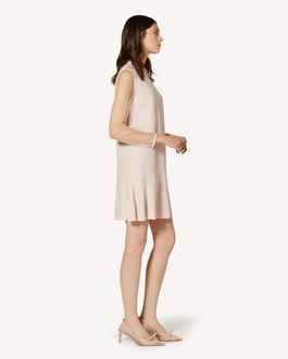 REDValentino Crepe envers satin and point d'esprit tulle dress