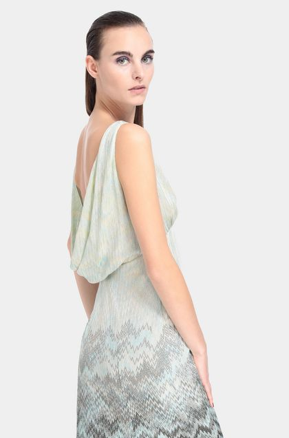 MISSONI Long dress Turquoise Woman - Front