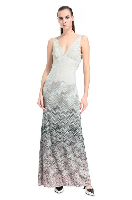 MISSONI Long dress Turquoise Woman - Back