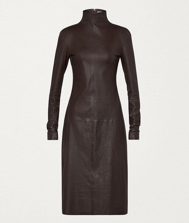 BOTTEGA VENETA DRESS IN STRETCH PLONGÉ Dress Woman fp