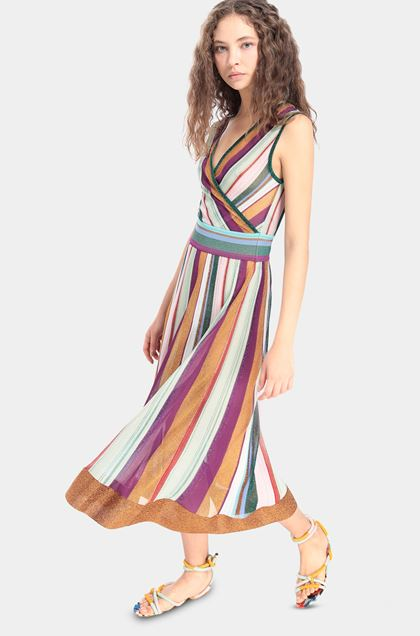 MISSONI Dress Acid green Woman - Front