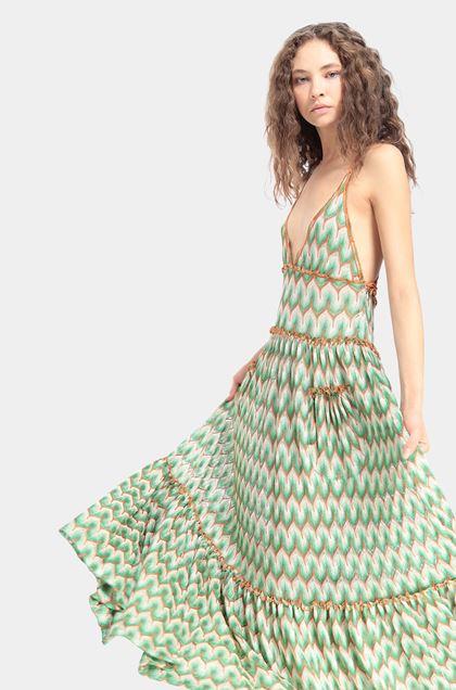 MISSONI Robe longue Vert clair Femme - Devant