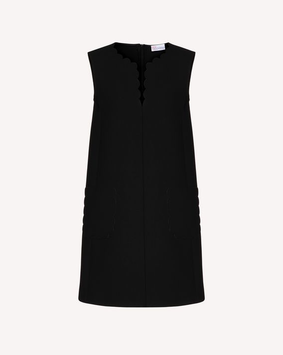 REDValentino Scallop detail bicolor fused tech dress