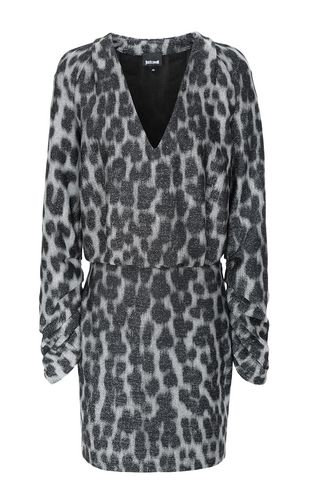 JUST CAVALLI Dress Woman Short leopard-spot-print dress f