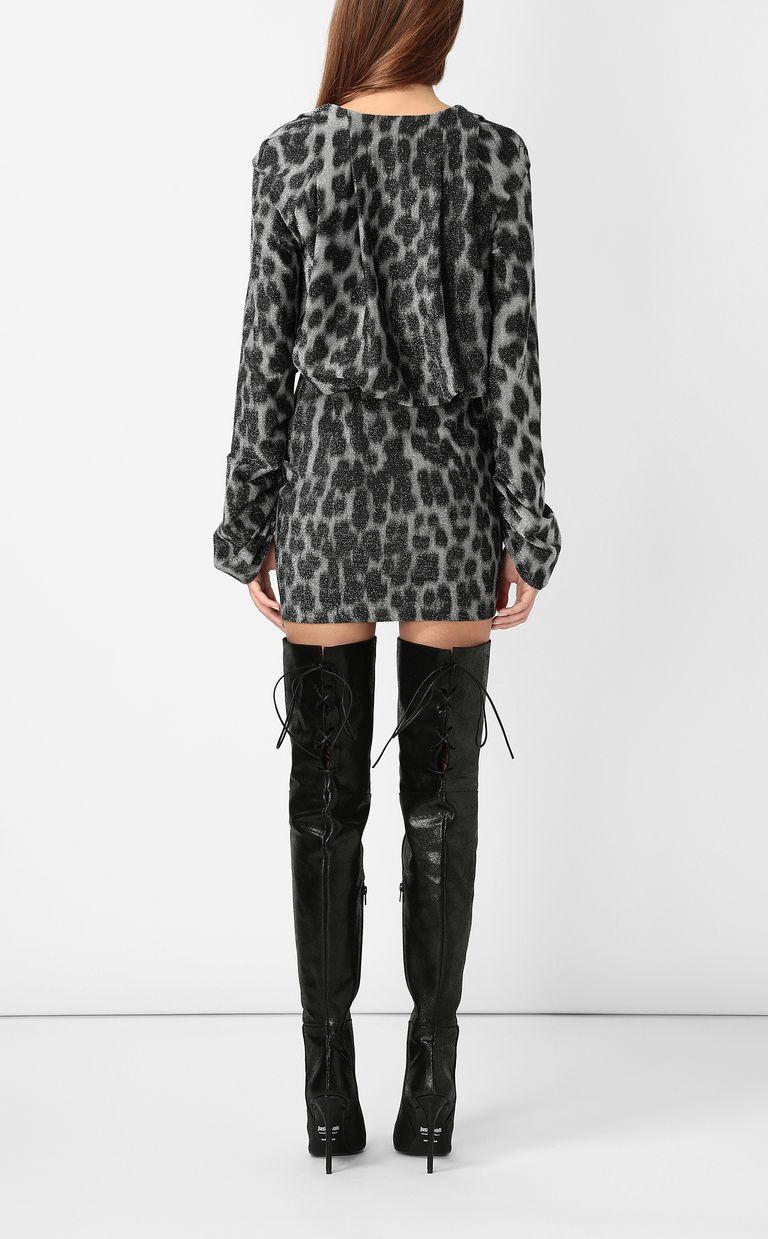 JUST CAVALLI Short dress with leopard spots Dress Woman a