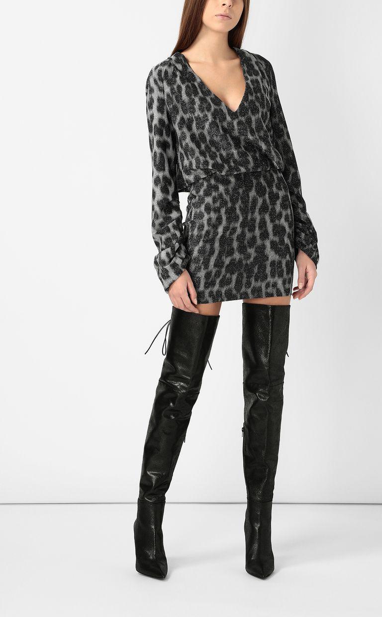 JUST CAVALLI Short dress with leopard spots Dress Woman d