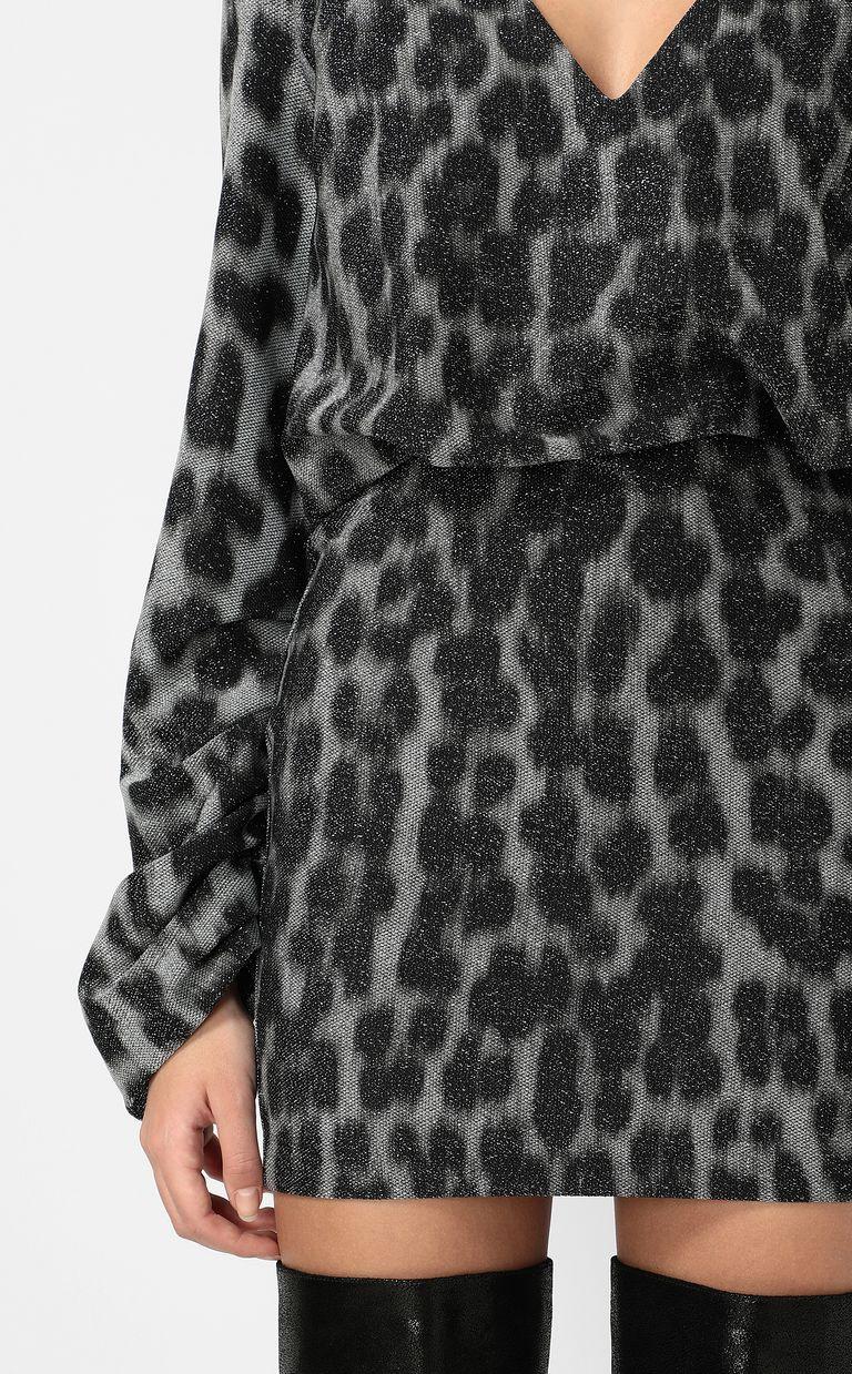 JUST CAVALLI Short dress with leopard spots Dress Woman e