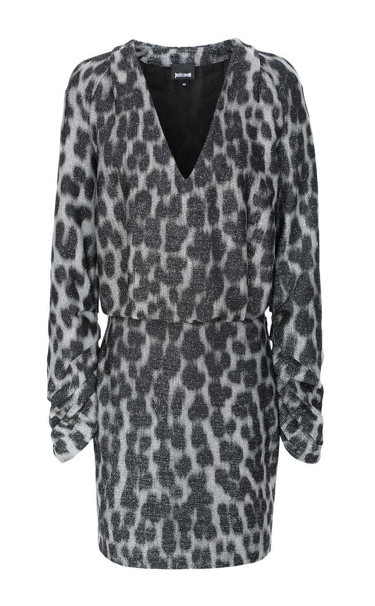 JUST CAVALLI Short dress with leopard spots Dress Woman f