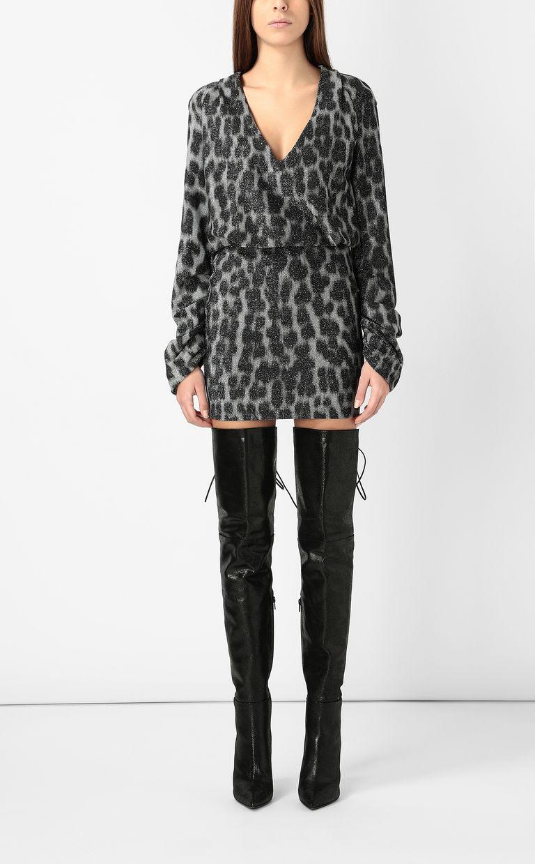 JUST CAVALLI Short dress with leopard spots Dress Woman r