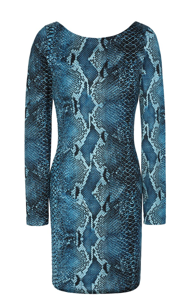 JUST CAVALLI Short python-print dress Short dress Woman f