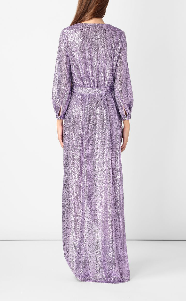 JUST CAVALLI Wrap dress with sequins Long dress Woman a