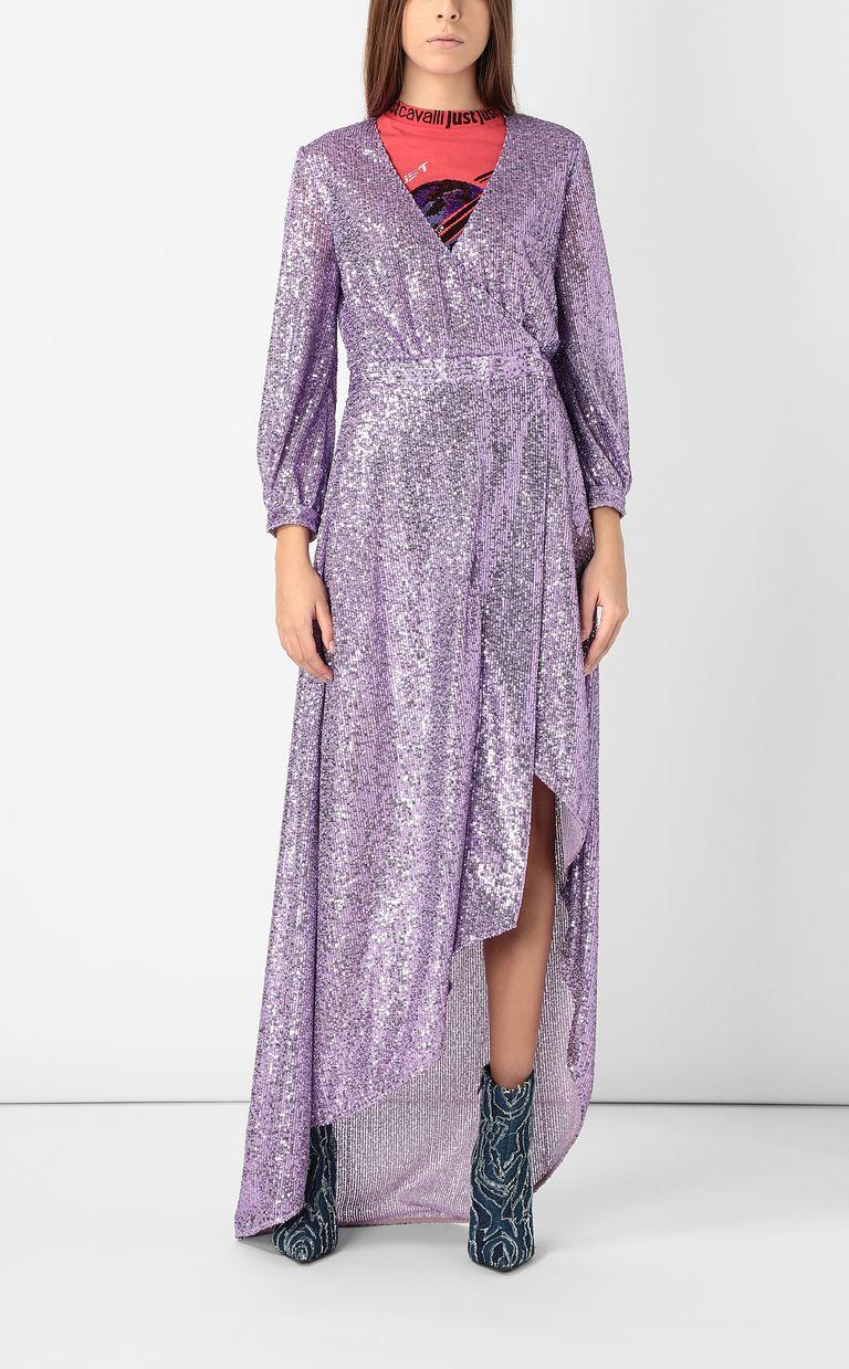 JUST CAVALLI Wrap dress with sequins Long dress Woman d