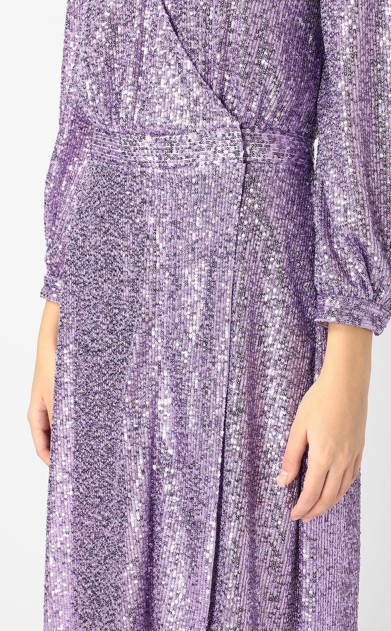 JUST CAVALLI Wrap dress with sequins Long dress Woman e