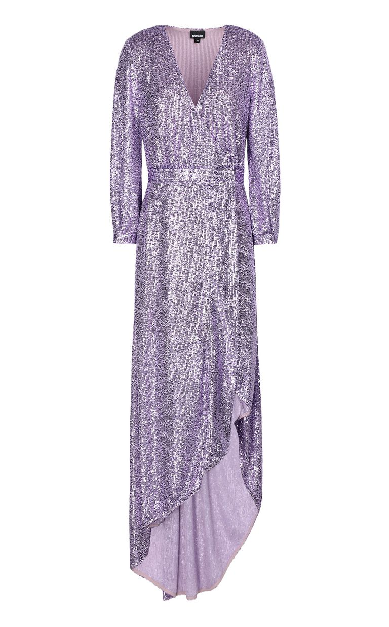 JUST CAVALLI Wrap dress with sequins Long dress Woman f