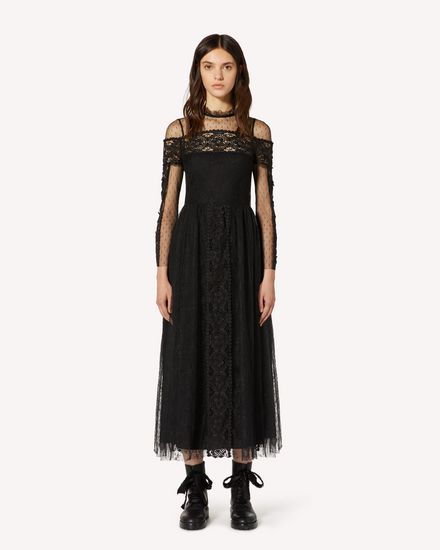 REDValentino Long and midi dresses Woman TR3VA11A4T9 0NO f