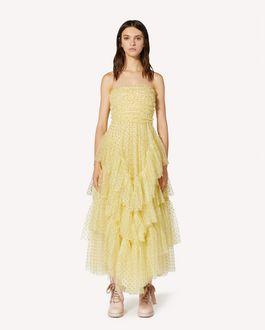 REDValentino Glitter polka dot tulle special dress