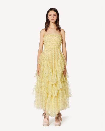 Glitter polka dot tulle special dress