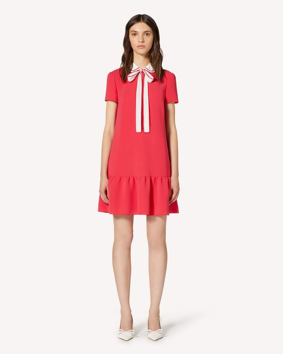 REDValentino Soft fluid dress with collar detail