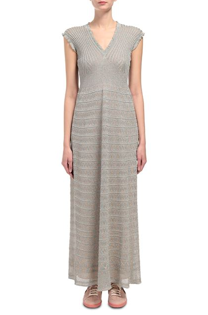 M MISSONI Long dress Light grey Woman - Back