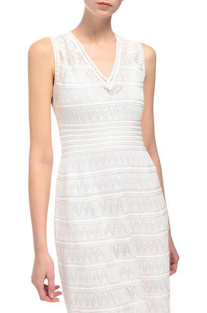 M MISSONI Long dress Ivory Woman - Front