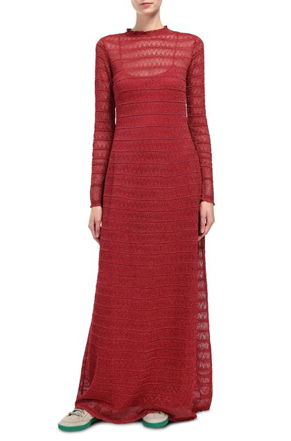M MISSONI Long dress Red Woman - Back