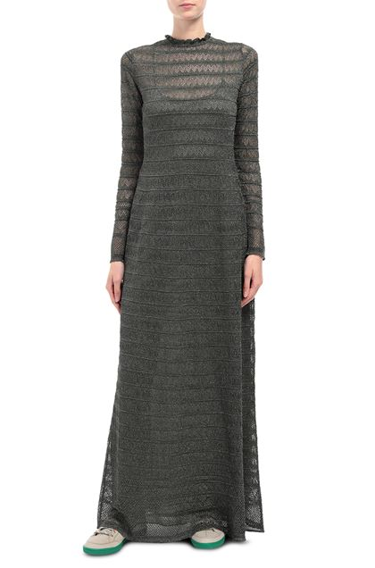 M MISSONI Long dress Dark green Woman - Back