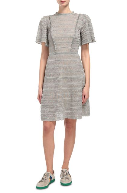 M MISSONI Dress Light grey Woman - Back