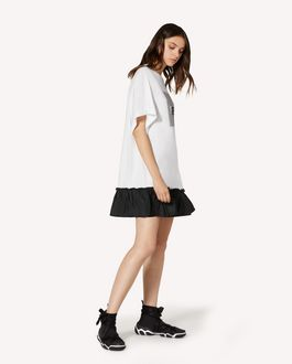 REDValentino Abito T-shirt con stampa LOVERED