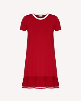 REDValentino Stretch viscose dress with flounce