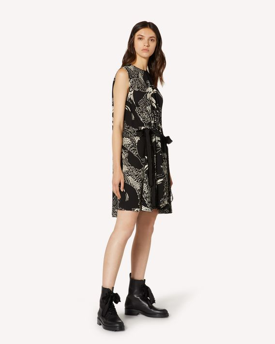 REDValentino Silk dress with Phoenicians print