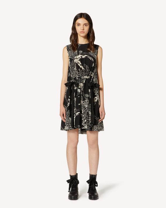 REDValentino Phoenix printed silk dress