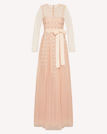 REDValentino Long and midi dresses Woman TR3VA12H4TG 377 a