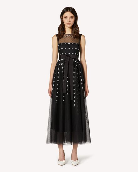 REDValentino Long and midi dresses Woman TR3VA11K4TG 0NO f