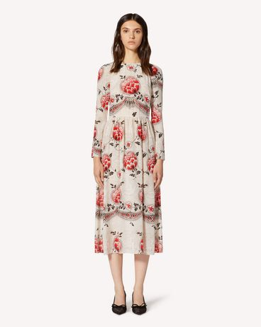 REDValentino Silk dress with Dotted Flowers print