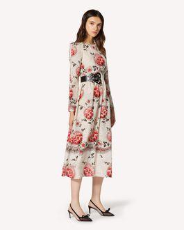 REDValentino Floral Dotwork printed silk dress