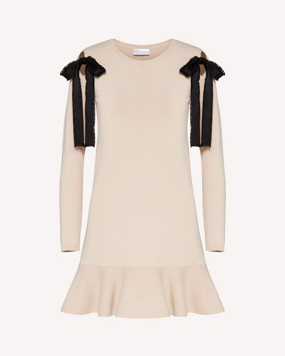 REDValentino REDballet capsule collection - Stretch viscose dress with ribbon detail