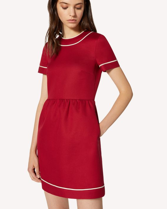 REDValentino Cotton cady dress with contrast details